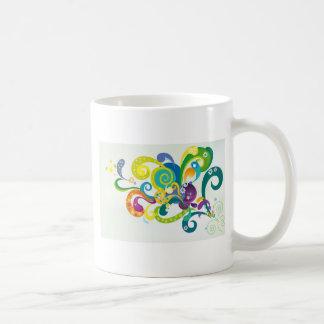 Floral psicodélico taza clásica