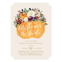 Floral Pumpkin Bridal Shower Invitation
