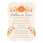 Floral Pumpkin Fall Bridal Shower Card