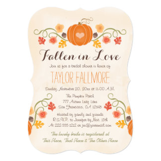 Floral Pumpkin Fall Bridal Shower Card