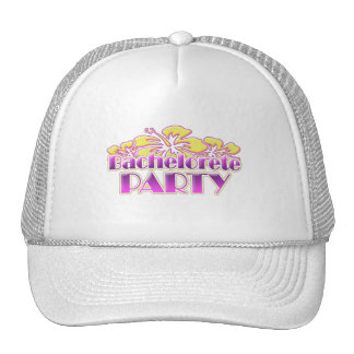 floral purple bachelorette party yellow flowers trucker hat