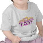 floral purple bachelorette party yellow flowers tshirts