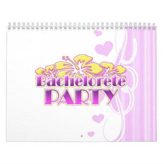 floral purple bachelorette party yellow flowers calendar