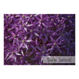 Floral Purple Bloom Custom Invitation