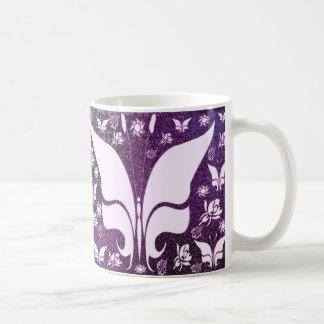 Floral Purple Butterflies Coffee Mug