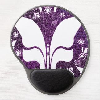 Floral Purple Butterflies Gel Mouse Mat