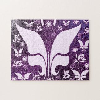Floral Purple Butterflies Puzzles