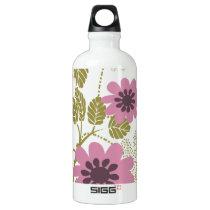 floral purple  elegance aluminum water bottle