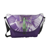 floral purple  elegance courier bag