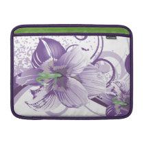 floral purple elegance MacBook air sleeve