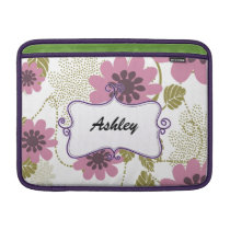 floral purple elegance MacBook sleeve