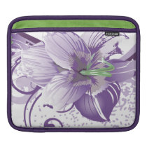 floral purple  elegance sleeve for iPads