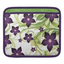 floral purple  elegance sleeve for iPads