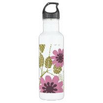 floral purple  elegance water bottle