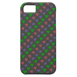 Floral Purple, Green, Orange Leaves Pattern iPhone SE/5/5s Case