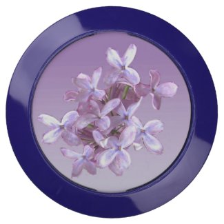 Floral Purple Lilac Flowers USB Charging Station
