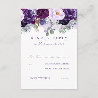 Floral Purple RSVP
