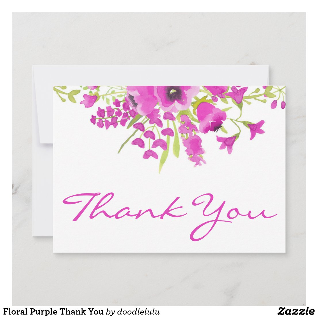 Floral Purple Thank You