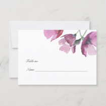 Floral purple watercolor Wedding Table Place Card