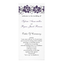 floral purple Wedding program