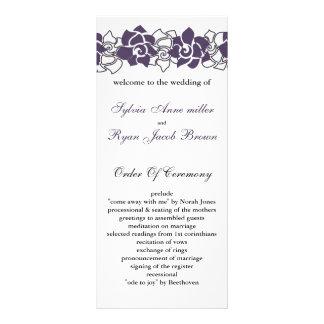 floral purple Wedding program