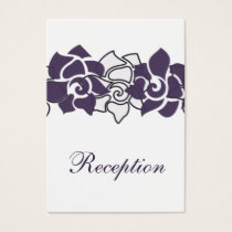 floral purple wedding Reception Cards