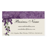 Floral Purple with Heart & Flowers Business Cards