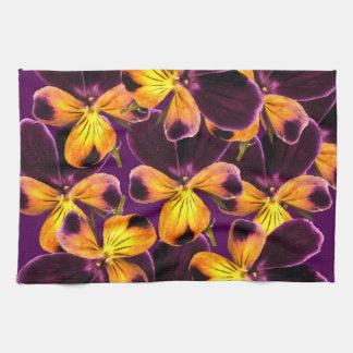Floral Purple Yellow Flower Kitchen Towel