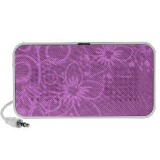 Floral púrpura mini altavoces