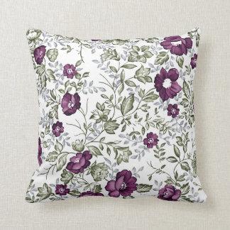 Floral púrpura cojín