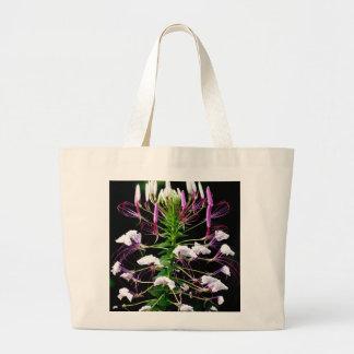 Floral púrpura de la flor de araña de Hassleriana  Bolsa Tela Grande