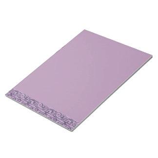 Floral púrpura del Victorian Bloc De Notas