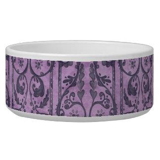 Floral púrpura del Victorian Tazón Para Perro