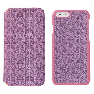 Floral púrpura del Victorian Funda Billetera Para iPhone 6 Watson