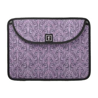 Floral púrpura del Victorian Fundas Para Macbooks