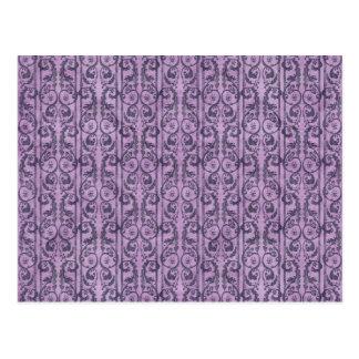 Floral púrpura del Victorian Postales