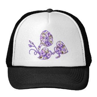 Floral púrpura gorro de camionero