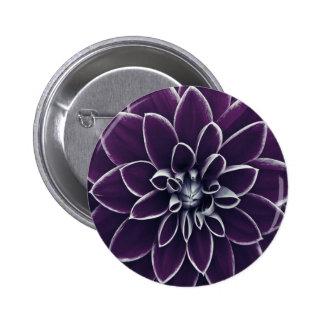 Floral púrpura hermoso chapa redonda 5 cm