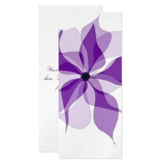 "Floral púrpura invitación 4"" x 9.25"""