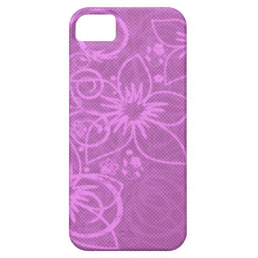 Floral púrpura iPhone 5 cárcasas