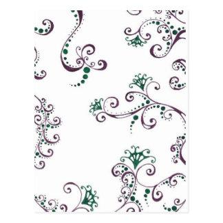 Floral púrpura postales