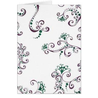 Floral púrpura tarjeta de felicitación