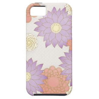 Floral púrpura y rojo funda para iPhone 5 tough