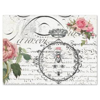 "Floral Queen Bee Script Decoupage Tissue Paper 17"" X 23"" Tissue Paper"