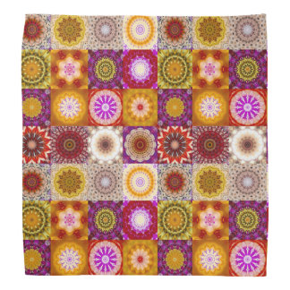 Floral Quilt or Patchwork Pattern Bandana