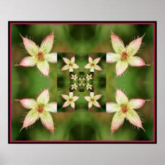 Floral Quilt Poster