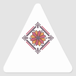 FLORAL QUILT SQUARE TRIANGLE STICKER