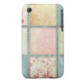 Floral Quilt Squares iPhone 3 Case-Mate Case