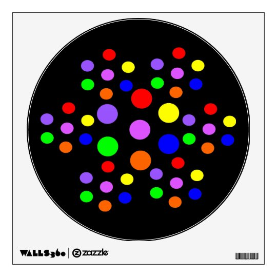 Floral Rainbow Spots Wall Decal