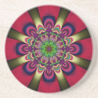 Floral Ray Sandstone Thirsty Coaster
